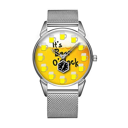 Mode wasserdicht Uhr minimalistischen Persönlichkeit Muster Uhr -480. es ist Bieruhr