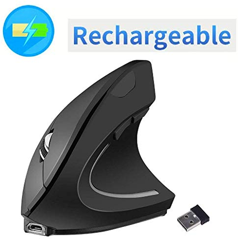Vertical Mouse, 7Lucky Small Rechargeable Ergonomic Wireless...