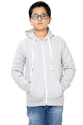 Unisex Boys Girls Plain Zip Up Hooded Sweatshirt Hoodies Top Jumper School Wear Hoodies UK Size 1-13 Years (Grey, 3_years)
