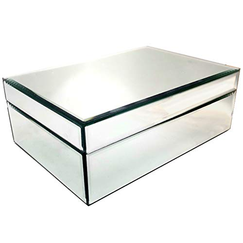 Meetart Silver Mirror Jewelry Box, Jewelry Storage Organizer, High-end Luxury Big Size Jewelry Box Upgrade with Better Package. 3 to 5 Days Arrived