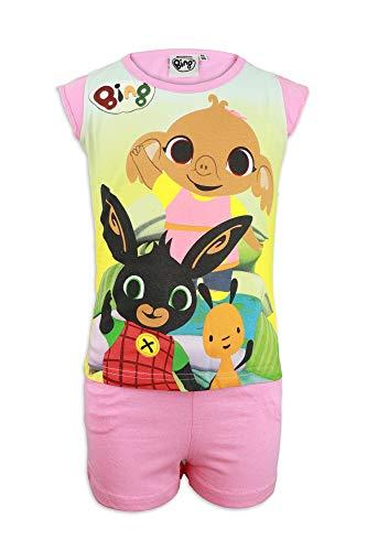 Bing Bunny - Coordinato Set 2 pz T-Shirt Maglia Maglietta Maniche Corte e Pantaloncino - Bambina - Cotone [0030 Rosa - 5 Anni]