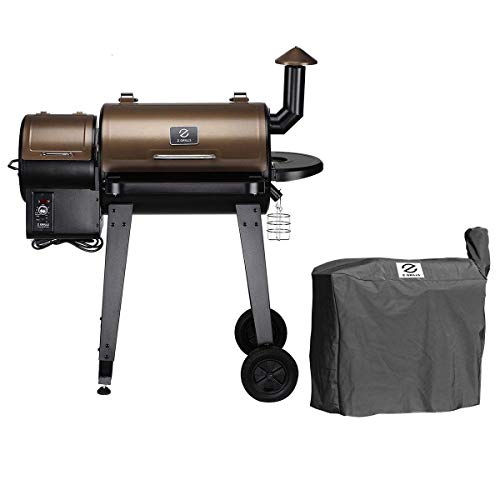 Z GRILLS ZPG-450A Wood Pellet Grill Smoker for Outdoor Cooking, 2020 Upgrade, 8-in-1 & Pid Controller (Grill)