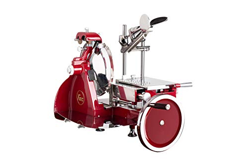 FAC - Affettatrice Volano Curvy Line 300-Lama 30cm-Componenti in Acciaio (Rosso)