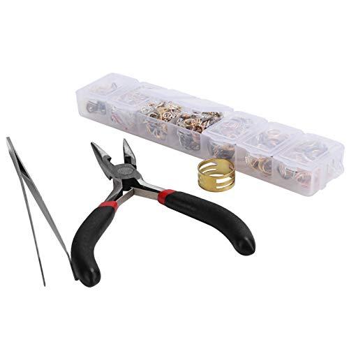 Suministros de herramientas para hacer joyas Juego de broche de langosta Anillo para hacer joyas de bricolaje 4/5/6/7/8 / 10mm con caja de embalaje portátil para hacer pulseras