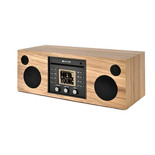 Como Audio: Musica - Wireless Music System with CD Player, Internet Radio, Spotify Connect, Wi-Fi, FM, Bluetooth and One Touch Streaming (Hickory/Black)