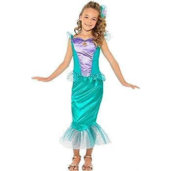 DISBACANAL Disfraz Sirenita Deluxe para niña - -, 7-9 años: Amazon ...