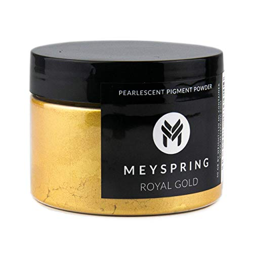 MEYSPRING Royal Gold Epoxy Resin Color Pigment - 50 Grams - Great for Resin Art, Epoxy Resin, and UV Resin