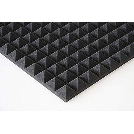 D/ämmung,ca.49 x cm x 49 cm x 2,5 cm, Anthrazit//schwarz lulushop Pyra Akustikschaumstoff Noppenschaumstoff Verpackungseinheit = 40 Platten = ca. 10 m/²