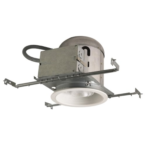 Emerald P301ICWW One-Light 6-Inch Recessed Ceiling Light Fixture Kit with IC Housing, White Trim and White Baffle