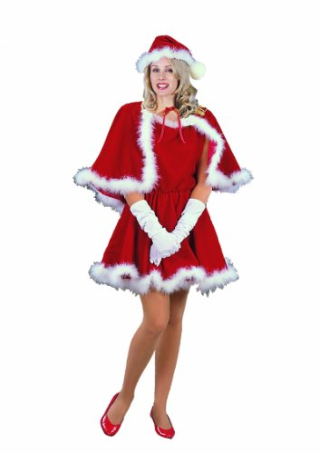 RG Costumes Women's Sexy MS Santa, Red, Large/8-10