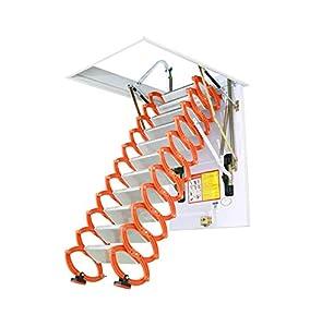 Escalera telescópica del ático invisible Escaleras plegables en el techo Escalera loft de aleación casera desplegable tamaño personalizable 2M-4M (Agujero 60CM*80CM,Alta 2.5M)