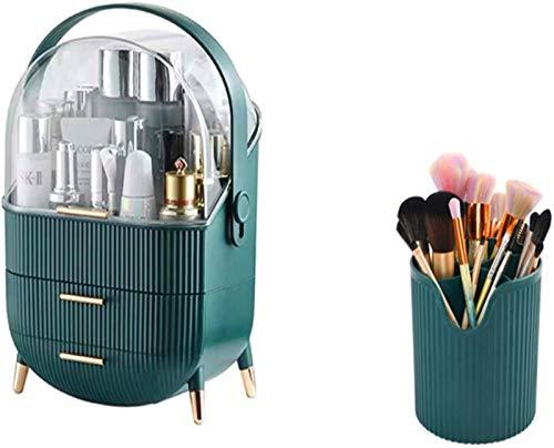Multifunktional Multifunktionaler Make-up-Organisator, wasserdichter und staubdichter kosmetischer Organizer-Box tragbarer Griff voll öffnen Make-up-Display-Boxen für...