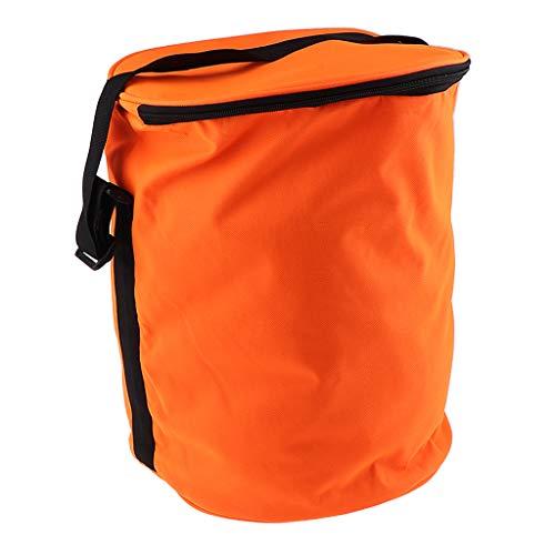 Sharplace Universal Eimer Köder Tasche Tennisbälle Beutel für Kajakfahren Strand Bootfahren Angeln - Orange, 28 cm