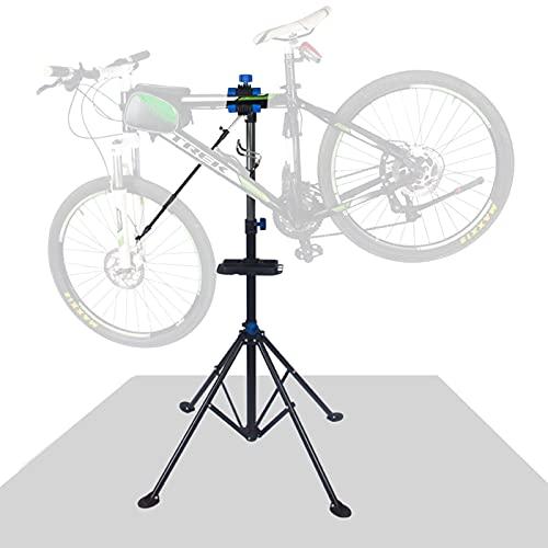 LSMK Soporte Bicicletas Soporte para Reparación de Bicicletas, Soporte Plegable de Alta Resistencia para Bicicletas de Mantenimiento, Soporte de Taller de Bicicletas de Carretera y Montaña, Acero