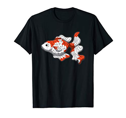 Goldfisch Rot Weiß Schleierschwanz Sarasa T-Shirt