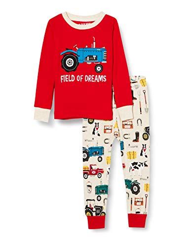 Hatley Long Sleeve Appliqué Pajama Set Juego de Pijama, Vida en la Granja, 10 años para Niños
