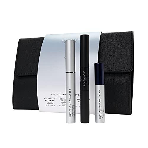 RevitaLash Cosmetics, RevitaLash Favorites - RevitaLash Advanced 3.5ml, RevitaBrow Advanced 1.5ml, Mini Double-Ended Volume Set & Signature Cosmetic Bag