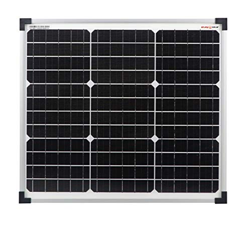 enjoysolar® hochwertiges Monokristallines Solarpanel Solarmodul ideal für Wohnmobil, Gartenhäuse, Boot (30W)