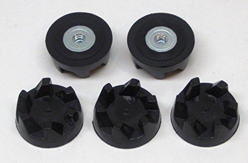 9704230 coupling coupler five pack de remplacement compatible pour KitchenAid Stand Blender models starting KSB52, 5KSB52, 5KSB5B, 5KSB5E