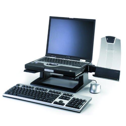 Wholesale CASE of 5 - 3M Ergonomic Notebook Computer Riser-Ergonomic Notebook Riser, 13-1/4'x13-1/4'x4'-6', Black