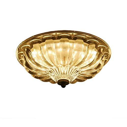 Luz de techo 40x40x17cm LED 30W Lámpara de techo de montaje semi empotrado de estilo europeo, lámpara de vidrio de tres tonos Araña de luz Balcón Cocina Cocina Sala de estar Balcón-Luz de dos colores