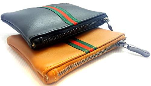 Carter HENC - Portamonete da donna, mini portafoglio, portamonete, porta carte di credito, colore: nero