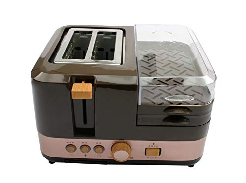 Why Choose Electric Breakfast Bread Baking Machine 2 Slices Toaster Oven Eggs Steamer Sausage Grill ...