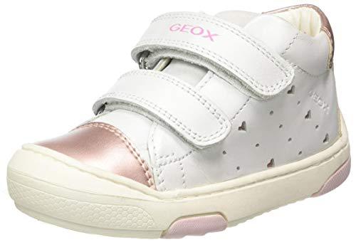 Geox B JAYJ, Sneakers Basses Garçon Baby-Girl, Blanc (White/Lt Pink C0814), 23 EU