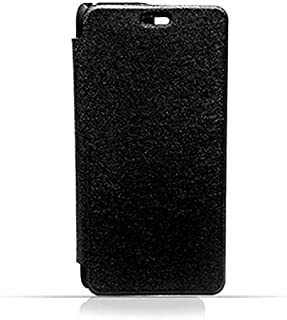 Huawei Y6 2017 Black Frosted PU Leather Flip Cover