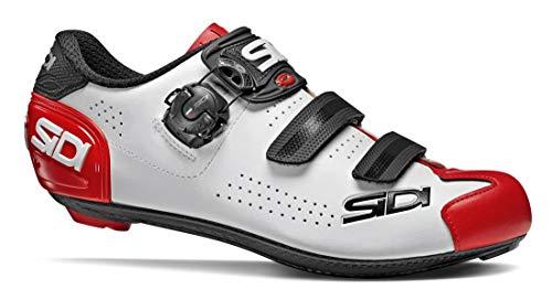 SIDI Scarpe Alba 2, Scape Ciclismo Uomo, Bianco Nero Rosso, 40