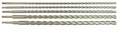 Steel Dragon Tools 5 Piece 24' SDS Masonry Drill Bit Set fits Milwaukee Hilti Bosch Tungsten Carbide Tip 3/8', 1/2', 5/8', 7/8' & 1'