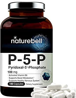 P5P Vitamin as Pyridoxal 5 Phosphate 100mg, 180 Capsules, Activated Vitamin B6 Supplements, Support Brain Health & Memory Function, No GMOs