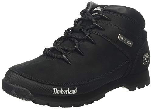 Timberland Euro Sprint Hiker, Stivali Uomo, Negro (Black Nubuck), 43 EU