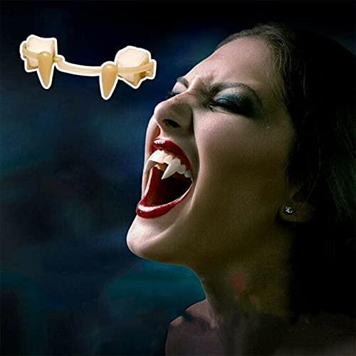 Retractable Vampire Fangs Teeth Fake Fangs for Cosplay Vampire Teeth Fangs Adult Retractable Fangs Vampire Braces Zombie Fangs Reusable Halloween Cosplay Accessories Props