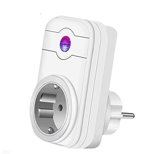 WiFi Smart enchufe, WiFi inteligente Home Socket con Timing Función, compatible con Amazon Alexa Echo/Echo Dot para Android y iOS Smartphone