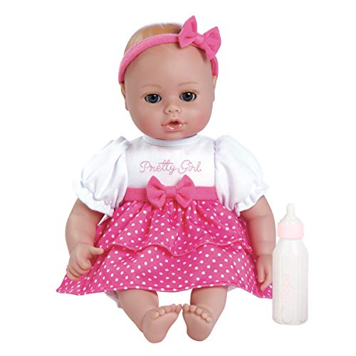 Adora Playtime Baby Pretty Girl Vinyl 13 Girl Weighted Washable Cuddly Snuggle Soft Toy Play Doll Gift Set with Open/Close Eyes for Children 1+ Includes Bottle