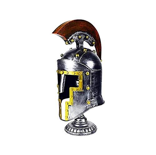 RSBCSHI Casco Hierro Forjado, Dominio Retro 32 × 23 × 40 cm Craft Modelo Decoración de la Oficina Sala de Estar