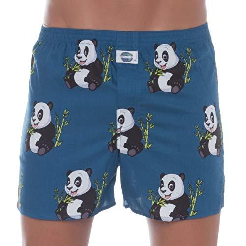 D.E.A.L International Boxershorts Blau mit Panda-Print Größe S