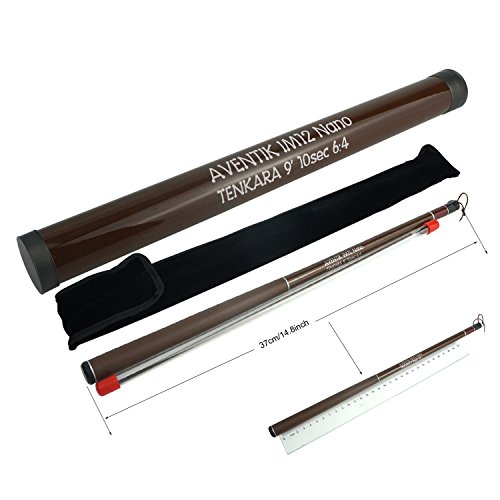 Aventik Z Tenkara Rods Pro IM12 Nano 6:4 Action 5 Most Used Sizes All Water Conditions Quality Carbon Tube Packing, Extra Spare Sections Included, Tenkara Fly Rods&Combo (12'0'' 13sec)