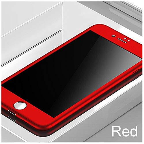 YJOO Funda para teléfono Cobertura Completa 360 para iPhone 7 6 6s 8 Plus 5 5S SE Funda para el iPhone 7 Protectora 8 Plus 11 Pro XS Carcasa para MAX XR con Vidrio