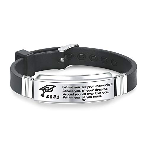 KOORASY Graduation Gifts for Him 2021 Inspirational Gifts Bracelet College High School Graduation Gifts for Class of 2021 Graduates Students