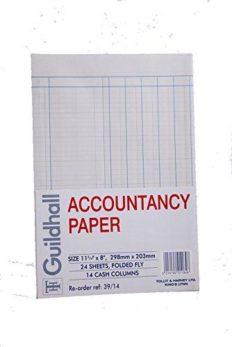 Exacompta Guildhall - Papel de contabilidad (A4, 24 hojas, 14 columnas de efectivo