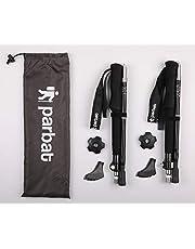 Parbat Bastones de senderismo Collaspables, paquete de 2 – Bastones de aluminio para senderismo, camping, escalada, senderismo, marcha nórdica, 2 unidades