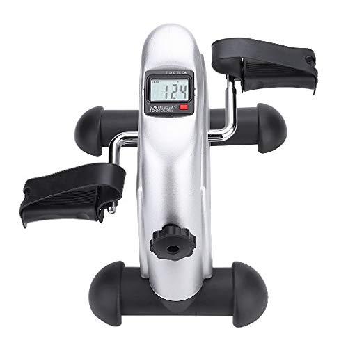 Cocoarm Mini Bike Heimtrainer Pedaltrainer Fitnessbikes Armtrainer und Beintrainer Pedaltrainer für Muskelaufbau Ausdauertraining Tragbare Heimtrainer mit LCD Monitor für zuhause und Büro