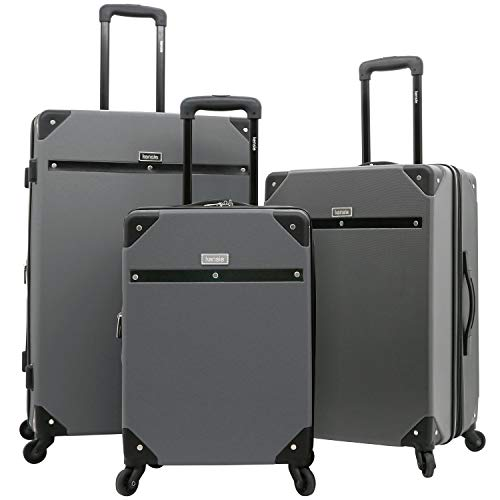 kensie 3 Piece Carroll Luggage Set, Charcoal Grey