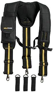 Tool Belt Work Suspenders| Padded suspenders with movable phone holder Tape Holder Pencil holder Adjustable Straps, suspenders Loop heavy duty work for carpenter electrician work Suspension Rig