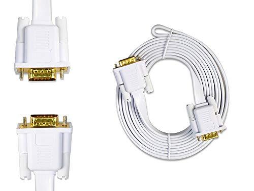 Vetrineinrete® Cavo prolunga vga Maschio 15 Pin 24k da 1,5 3 5 e 10 Metri per Monitor pc Computer TV Video Piatto (3 mt) D79