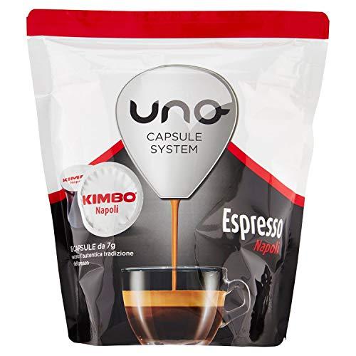 Kimbo Capsule Uno system Espresso Napoli, 1 x 6 Confezioni da 16 Capsule, Totale 96 capsule