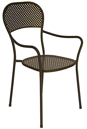 PEGANE Chaise de Jardin en Fer forgé Coloris Gris Anthracite- A Usage Professionnel - Dim : H 89 x 57 x P 54 cm