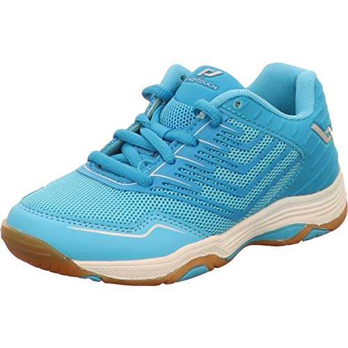 Pro Touch Rebel 3 Volleyball-Schuh, Blue/Turquoise/SIL, 37 EU